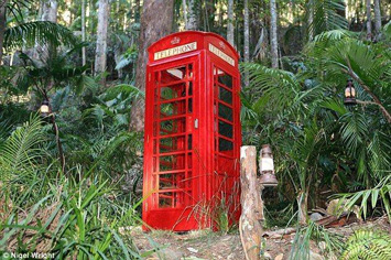 A Phoney Box on set at I'm a Celebrity Get me Out of Here in Australia