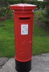 Our new replica post box