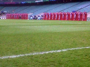 24 Phoney Boxes on the touchline at Twickenham