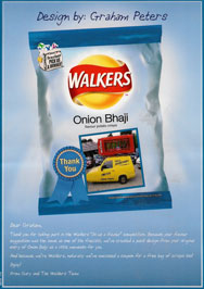 Phoney Box Walkers Crisp packet from Walkers 'Do us a flavour' competition